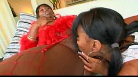 Ms Cleo Big Butt Mama Seduces A Skinny Ebony Teen