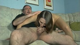 Hairy step dad fuck young brunette