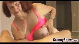 Nasty Grandma Giving A Handjob Point Of View