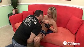 Busty Cop Jessica Moore Sits On A Hard Shaft