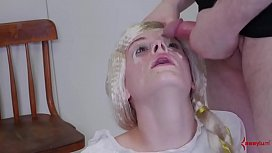 blond girl slave