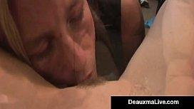 Crazy Cougar Deauxma &amp_ Elizabeth Starr Suck &amp_ Fuck A Cock!