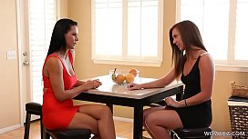 Hot Mom makes the babysitter wet - Maddy O'_Reilly and Laly