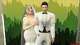 Esposa Reci&eacute_n Casada En Vestido de Novia Follada en Sesi&oacute_n de Fotos al Lado de Su Marido Cornudo Netorare