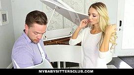 MyBabySittersClub - Blonde Teen Babysitter (Molly Mae) Helps Me Cum