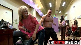 60 Rich milfs blowing strippers at underground cfnm party!46
