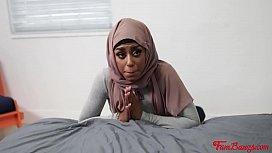 Ebony Sister In Hijab Rides Brother- Milu Blaze