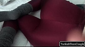 Turkish Stepsister in leggings wants to fuck and cumshot