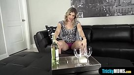 My stepmom celebrating her promotion with my hard cock
