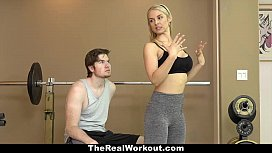 TheRealWorkout - Hot Milf (Sarah Vandella) Fucks Fitness Client