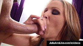Holy Shit! Dick Licking Milf Julia Ann Milks Cock In Her ...
