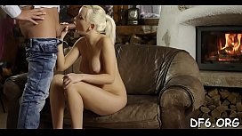 Lewd stag shows his virgin gf pleasures of adult life