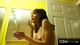 Hot Skinny Milf fucking a huge cock, Lexi Foxy interview &amp_ BTS - RawAttack