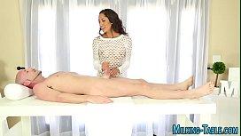 Sucking masseuse spunked