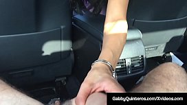 Cum Hungry MexiMilf Gabby Quinteros Sucks Dick In Car!