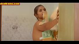 uma in shower
