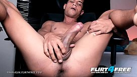 Fran Klin - Flirt4Free - Latino with Monster Cock Spreads His Tight Hole