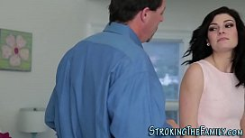 Teen stepdaughter blows