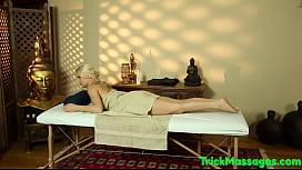 Massaged babe pussyfucked on hidden spycam