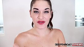 Sexy Kendra Heart extreme deepthroat and swallow