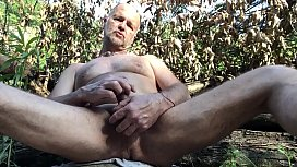 nudist milking himself in public