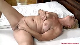 Busty Granny Loves a Big Cock in Her Pussy