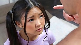 Tiny asian schoolgirl gets caught messing around - teen porn