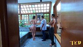 Bastidores da novinha Paola Gurgel com o diretor - Hugo Belfort - Sandro Lima - Binho Ted - Big Bambu
