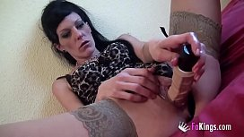 Extreme penetrations to Carla Crosh, the queen of pussy Double Penetration