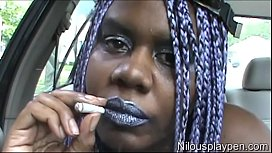 Smoking and Pussy Play In Car #2 : Nilou Achtland