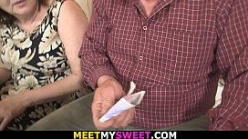 Meeting with his old parents leads to taboo threesome sex