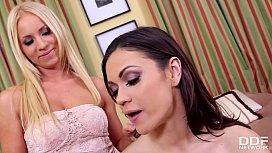 Erotic sleepover sensation with scissor sisters Kiara Lord &amp_ Alyssa Reece