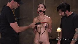 Slave gagged fucked and whipped