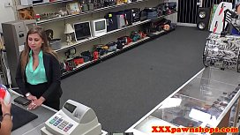 Pawnshop amateur riding out the back of store