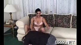 Appealing gal dazzles with crazy sucking
