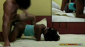 Real 18yo Black Girl Takes Her First White Cock