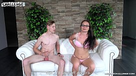 Horny Wendy has a Newbie at her Challenge Show, So She Has to Satisfy Him