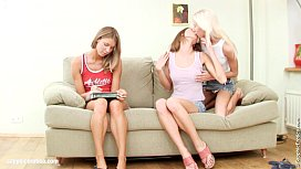 Hot threesome lesbian action with Nichol Natalia and Aly from Sapphic Erotica