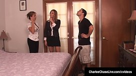 Milf Charlee Chase &amp_ Hubby Fuck Amber Lynn Bach In 3Some!