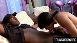 Ebony Beauty Imani Rose Gets a BBC Nice and Hard for Her Black Pussy