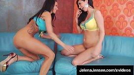 Lesbian Lickers Jelena Jensen &amp_ Sandee Westgate Dildo Fuck!