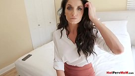 My classy stepmom offers blowjob to keep my mouth shup