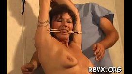Juicy mature playgirl experiences true hardcore bondage