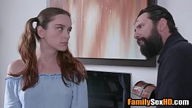 Jealous step dad punishes his teen d.