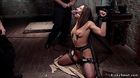 Hot Abella Danger gets slave training