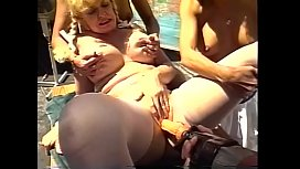 Sex orgy with studs and grannies fucking hardcore and sucking dick outdoors