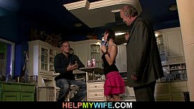 Cuckolding surprise for young wife