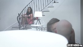 Shy teen recorded and fucked in public at a house party