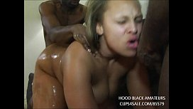 THICK EBONY BBW TAKES 2 BIG BLACK COCKS IN EVERY HOLE. GETS LARGE ORGY FACIAL