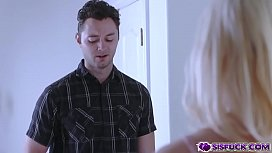 Chloe Cherry sucking off Brad Sterlings long champ cock!